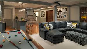 furniture for basement. Entertainment Space In The Basement. Furniture For Basement E