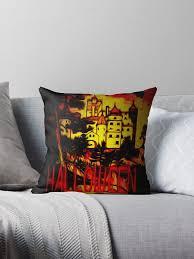 """A Dracula <b>Halloween Castle</b> "" <b>Throw Pillow</b> by ZipaC | Redbubble"