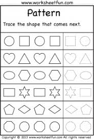 Patterns For Preschool Beauteous Preschool Worksheets For Patterns48 Myscres