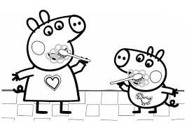 This cartoon tells about friendship in the family, about friends and other important things. Peppa Pig Coloring Pages Her Family And Friends Print Online