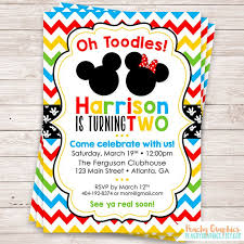 Make Your Own Mickey Mouse Invitations Extraordinary Mickey Mouse Clubhouse Birthday Invitations