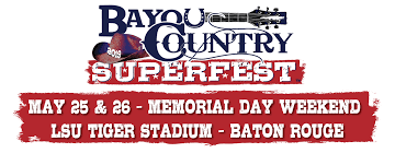 Bayou Country Superfest 2018 Seating Chart 10th Annual Bcsf Returning To Lsu Tiger Stadium Wgno