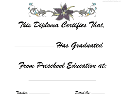 Prek Diploma Prek Graduation Diploma Kindergarten Graduation Free Printable Diplomas