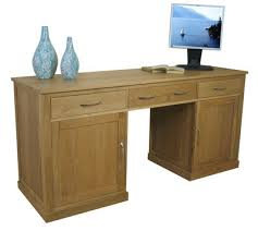 picture mobel oak large hidden office. (COR06D) Mobel Oak Large Hidden Office Twin Pedestal Desk Picture I