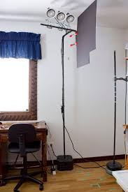 painting studio lighting. Every Light Stand Has Large Tripod Legs That Would Never Work In The Space  I Have; So Opted To Build My Own From 1/2 Black Pipe. Painting Studio Lighting