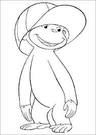Curious George Printable Coloring Pages Play Time Curious George