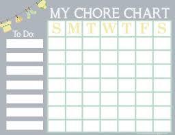Free Printable Chore Chart For Kids Chore Chart Kids