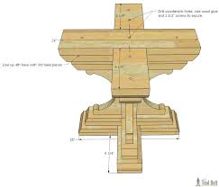 free woodworking plans to build a chunky french farmhouse style round pedestal table base diy wood