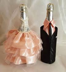 wedding bottle decorations wedding decor com bride and groom wine bottle covers dress decorations full