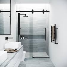 frameless sliding shower door in