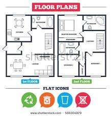 floor plan symbols. Architecture Plan With Furniture. House Floor Plan. Recycle Bin Icons. Reuse Or Reduce Symbols
