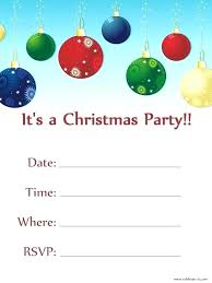 Printable Holiday Party Invitations Free Printable Christmas Party Invitations Templates And Invitation