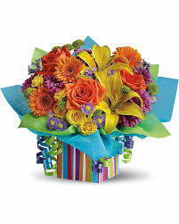 rainbow present rainbow present send flowers to calgary by