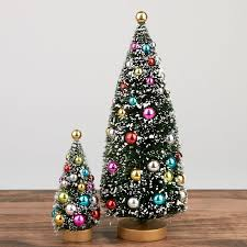 Decorated Bottle Brush Trees