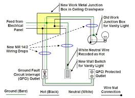 how to finish a basement bathroom ceiling junction box wiring following the basement bathroom wiring diagram