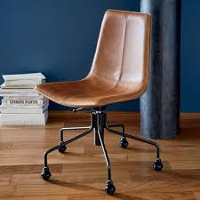 West elm office chair Metal Slope Leather Office Chair West Elm Slope Leather Office Chair West Elm Australia