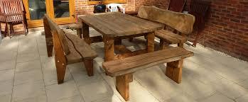 rustic wooden outdoor furniture. Rustic Garden Bench Table \u0026 Benches Wooden Outdoor Furniture Liltigertoo.com