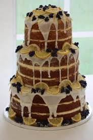 Lemon Drizzle Naked Cake Decorated With Crystallised Whole Violets