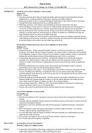 Resume For Analytics Job Analytics Product Manager Resume Samples Velvet Jobs 21