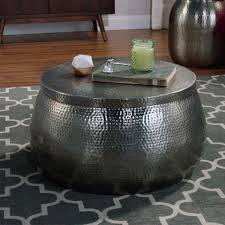 coffee table modern reion brass drum coffee table round uk