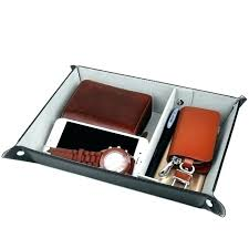 dresser organizer tray valet trays full dose smart stand leather box mens desk tidy