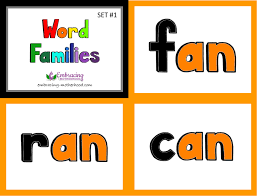 word families flashcards set 1