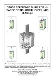 Low Voltage Nh Din Fuse Links