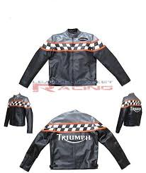 triumph motorcycle biker leather jacket