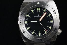 swiss made prometheus manta ray diver watch black 1u dial prometheus trireme white dial