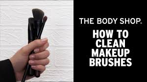 how to clean makeup brushes the body