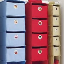 I Think I Canvas Wide Drawer Hanging closet Storage containers