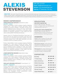 Modern Marketing Resume Fortune Modern Resume Under Fontanacountryinn Com