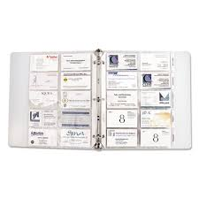 Superwarehouse Tabbed Business Card Binder Pages 20 Cards Per