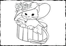 Cats Colouring Pages Printable Hello Kitty Coloring Pages Coloring