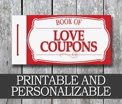 Printable Love Coupon Book Boyfriend Valentine Day Gift Etsy