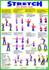 Golf Warm Up Stretching Exercise Chart