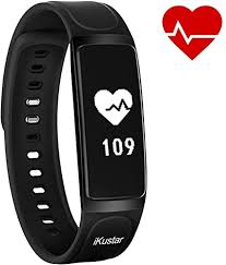 iKustar Fitness Tracker <b>Smart Bracelet Pedometer Heart</b> Rate