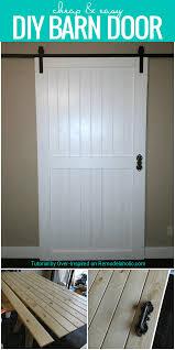 Remodelaholic | Cheap & Easy DIY Barn Door