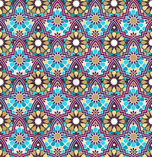Morrocan Pattern Classy Seamless Bright Multicolored Geometric Pattern Based On Moroccan
