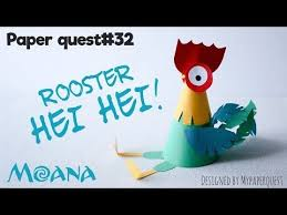 Как сделать поделку петушок ХейХей Моана. How to make rooster