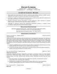 Car Mechanic Job Description Directory Resume