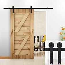 hrace 5 ft sliding barn door hardware basic sliding track hardware kit j style