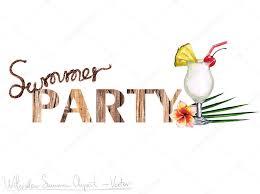 summer party clipart. Plain Summer Summer Party  Vector Clipart Aquarelle U2014 Image Vectorielle On E