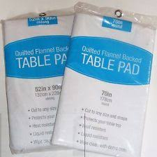 Table Protector   eBay & Elrene Table Pads Quilted Flannel Backed Table Protector Cut to Custom Size  New Adamdwight.com