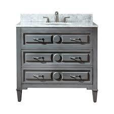36 inch vanity. Modren Vanity Avanity Kelly 36Inch Grayish Blue Vanity With Carrera White Marble Top  To 36 Inch Y
