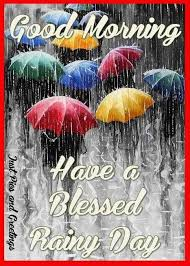 Good Morning Rainy Day Quotes Best of Good Morning Have A Blessed Rainy Day Pictures Photos And Images