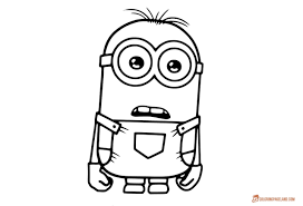 Grab your crayons and print out some minion coloring pages! Minion Coloring Pages For Kids Free Printable Templates