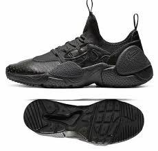 new nike air huarache edge leather shoes mens triple black all sizes