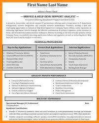 Sample Help Desk Support Resume 11 12 Service Desk Analyst Resume Elainegalindo Com
