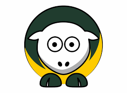 sheep 3 toned green bay packers team colors svg clip green bay packers clipart